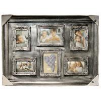 Коллаж на 4 фото 10х15 и 2 фото 13х18 Platinum BIN-112133 Silver. Серебро.