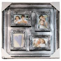 Коллаж на 4 фото 10х15 Platinum BIN-112134 Silver. Серебро.