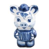 Свинья в шапочке и с гармошкой