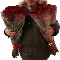 Большие букеты из роз
