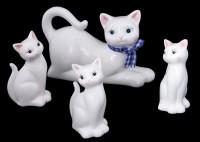 Семья кошек (фарфор)