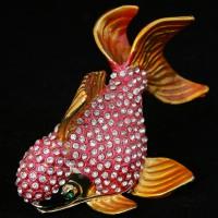 Шкатулка-рыба со стразами