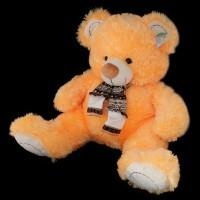 Медведь светло-оранжевый с шарфом