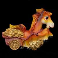 Лошадка с повозкой золотых денег