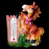Лошадь с термометром