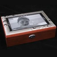 Шкатулка для ювелирных украшений 39843 с рамкой для фото 10х15