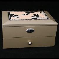 Шкатулка для ювелирных украшений двухъярусная 39930