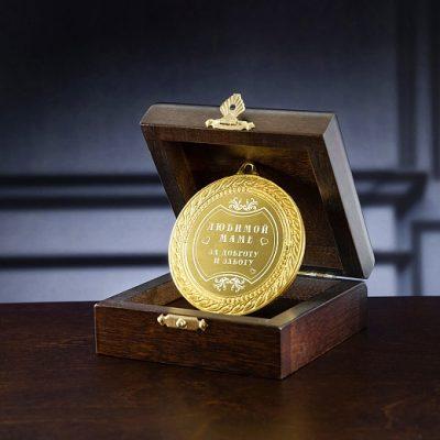 медаль в футляре0191